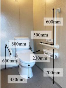 トイレ寸法